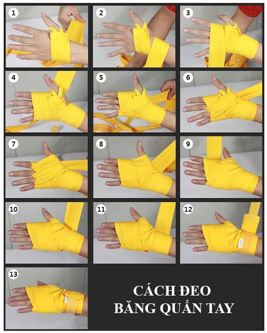 Cách đeo băng quấn tay