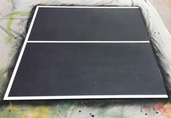 Cách sơn mặt bàn bóng bàn cũ