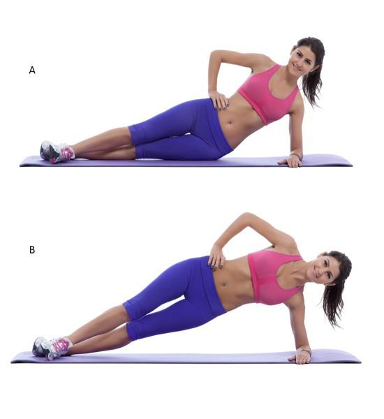 Plank nghiêng tập cơ liên sườn
