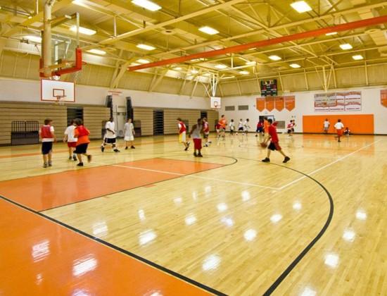 Sân bóng rổ thi đấu