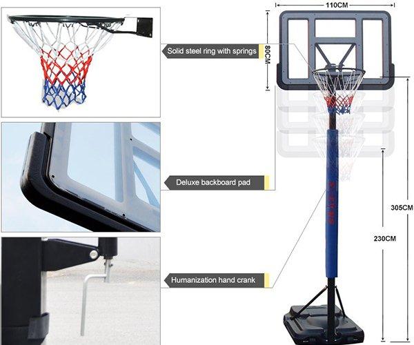 Thiết kế trụ bóng rổ S021