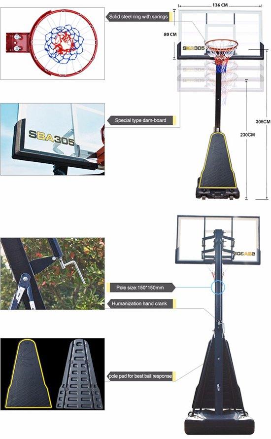 Thiết kế trụ bóng rổ S027