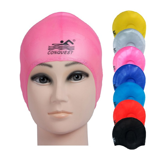 Mũ bơi Conquest có tai cao cấp giá rẻ nhất ở Dụng cụ Thể dục