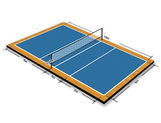 Kích thước sân bóng chuyền tiêu chuẩn thi đấu và cách vẽ sân?